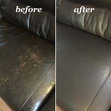 espresso leather sofa before and after repair