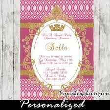 Royal Princess Party Invitation Fuchsia Personalized Cupcakemakeover