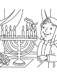 Small Picture Lighting the Menorah Coloring Page crayolacom