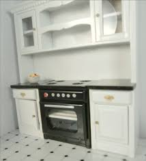 Dollhouse Furniture Kitchen Furniture Kitchen Cabinets With Stove Miniature Kitchen Wall Cabinets