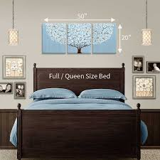 size guide in bedroom for canvas art blue and brown tree on wall art sizes with wall art canvas painting of tree in blue and brown large amborela