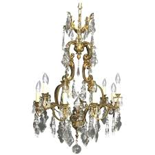 lighting gorgeous antique chandelier crystals 10 french gilded bronze and crystal twelve light birdcage chandeliers glass