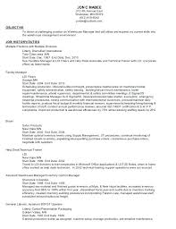 Warehouse Objective Resume Nursing Objective Resume New Graduate 100 For Warehouse Position 65