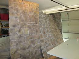 amusing faux stone paneling panels made from polystyrene aka styrofoam the wall for your