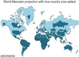 Animated Mercator Map Shows Countries True To Size