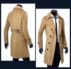 long coat for men double ted trench coat trench coat mens uk black beige trench coat long coat for men