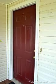 to paint a new door front door makeover with new marquee paint paint door red how to paint a new door painting exterior doors and trim diffe colors