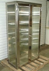 decoration stainless steel cabinets vintage storage medical supplies metal cabinet sliding glass doors