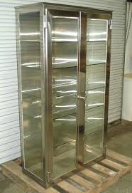 decoration stainless steel cabinets vintage storage medical supplies metal cabinet sliding glass doors