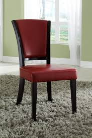 red wood dining chairs. Red Leather Dining Chair Wood Chairs