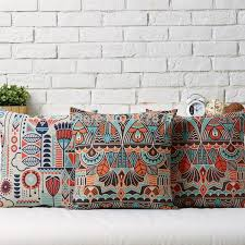 red sofa pillows. Beautiful Red Nordic Bohemian Home Decor Pillows CasesRed Sofa PillowsHome Derocative Throw  Geometric Burlap Modern Cushion Cushions Inside Red E