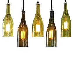 diy wine bottle chandelier pendant light kit pottery barn frame barrel