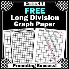 Free Printable Long Division Graph Paper Homeschool Giveaways
