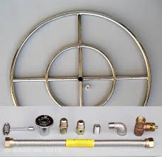 6 12 18 24 30 36 stainless steel fire pit burner ring kit for natural gas