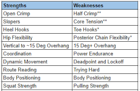 5 Strengths And Weaknesses The Training Plan Strengths And Weaknesses The Lazy