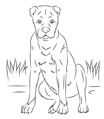 Boxer Dog Coloring Page Free Printable Coloring Pages