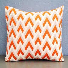 Gray And Orange Decorative Pillows