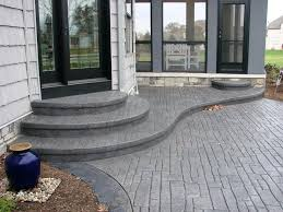 concrete patio ideas backyard modern with images of set new in stamped76 patio