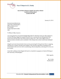 how to write a recommendation letter for university admission friendly letter format high school sample reference for