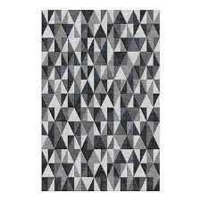 trident charcoal grey rug