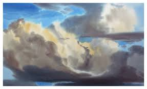 storm clouds over mesa painting by laurence sisson