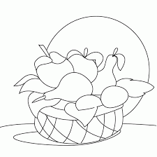 Small Picture Fruit Basket Coloring Page Coloring Home