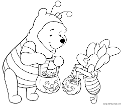 Halloween Coloring Pages Disney Characters Disney Characters