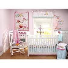 levtex baby night owl 5 piece crib bedding set dressers captivating pink and grey nursery bedding