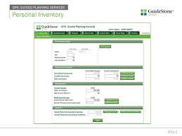 Personal Inventory Personal Inventory Gps Guided Planning Services Ppt Download