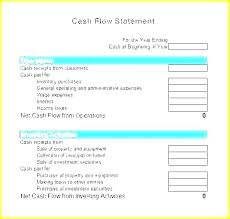 Personal Cash Flow Statement Template Excel Cash Flow Statement Template Xls Personal Cash Flow