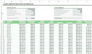 Car Loan Spreadsheet Payment Amortization Schedule Excel