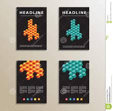 cover design or page background stock photos image 22680523 four brochure catalog cover page layout template orange and blue geometric design