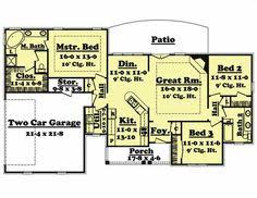 Square feet  Bedroom floor plans and Floor plans on PinterestHouse Plan  Jaime Home Plan ID  Width        quot  Bedrooms