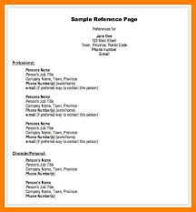 template for professional references professional references format job template examples of how list on