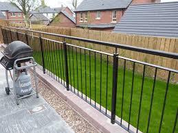 outdoor stairway handrail raised garden railing