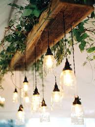 outdoor hanging chandelier battery operated natural glam wedding in lavender and green light