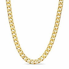 men s solid square link chain necklace in 10k gold 22