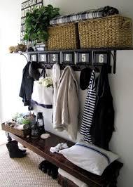 Dark Wood Coat Rack Fancy White Entryway Wall Shelf with Hooks for Wall Mounted Coat 85