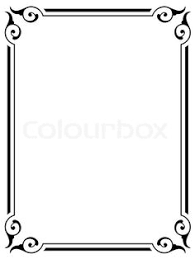 simple frame design. Simple Victorian Border - Google Search Frame Design