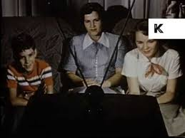 family watching tv 1950s. family watching tv 1950s
