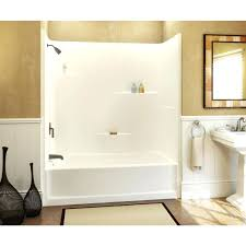 one piece tub shower combo sterling with