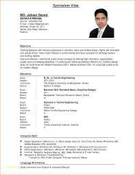 Format For Cv Resume Or 10 Sample Cv For Job Application Pdf Basic