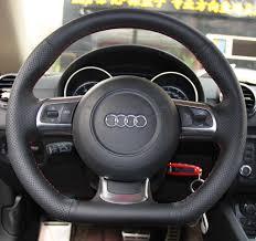 handmade leather steering wheel cover for audi s3 8p and audi tt tts