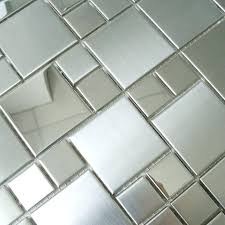 mirror mosaic tiles on mesh photo 4 of tile sheets square brushed stainless steel kitchen floors