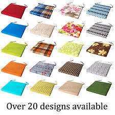 italian fabric chair cushion seat pads thick tie on garden dining kitchen square