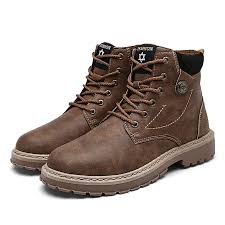 british retro men s locomotive cowboy boots scrub suede high top tooling shoes tide martin boots