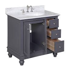 24 inch bathroom vanity combo. kitchen bath collection kbc2236gycarr bella bathroom vanity with marble countertop, 24 inch combo