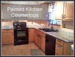 painted kitchen countertops