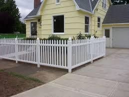 vinyl picket fence front yard. Front Yard Fence Adaptation. Vinyl Picket