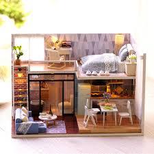 modern dollhouse furniture sets. Dollhouse Modern Furniture. Blue Time Miniature House Model Furniture Kits DIY Wooden Dolls Sets
